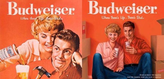 Anúncios da Budweiser adapta aos anos 50 e 60 para 2019